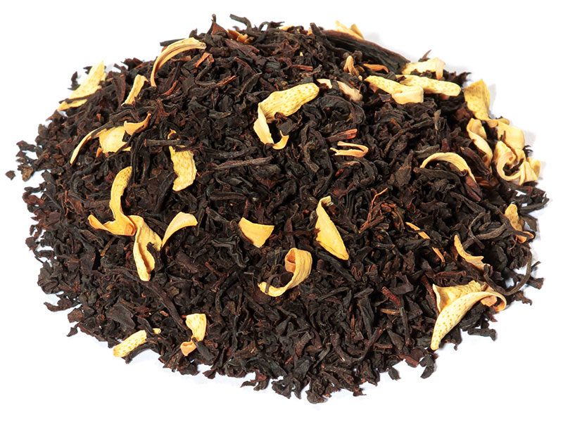 Thé Tisane Infusion noir parfumé Oranger